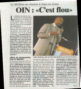 Alain Dolium et l'OIN (Article TLN)